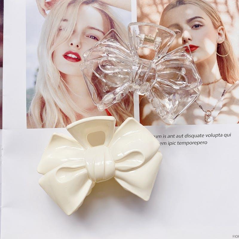 ribbon hair clipの画像1枚目