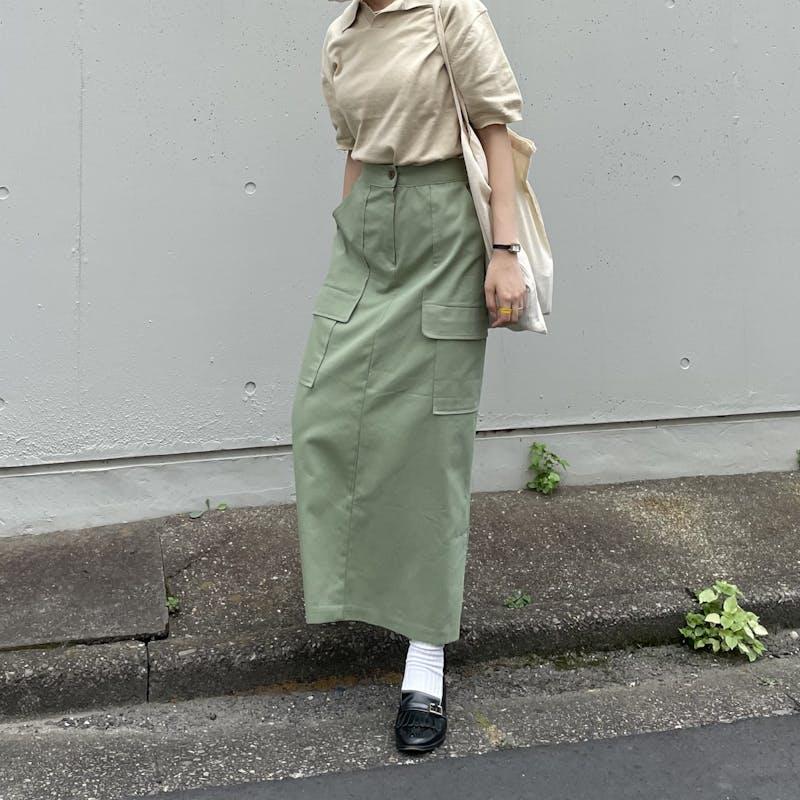 high-waist cargo skirtの画像2枚目