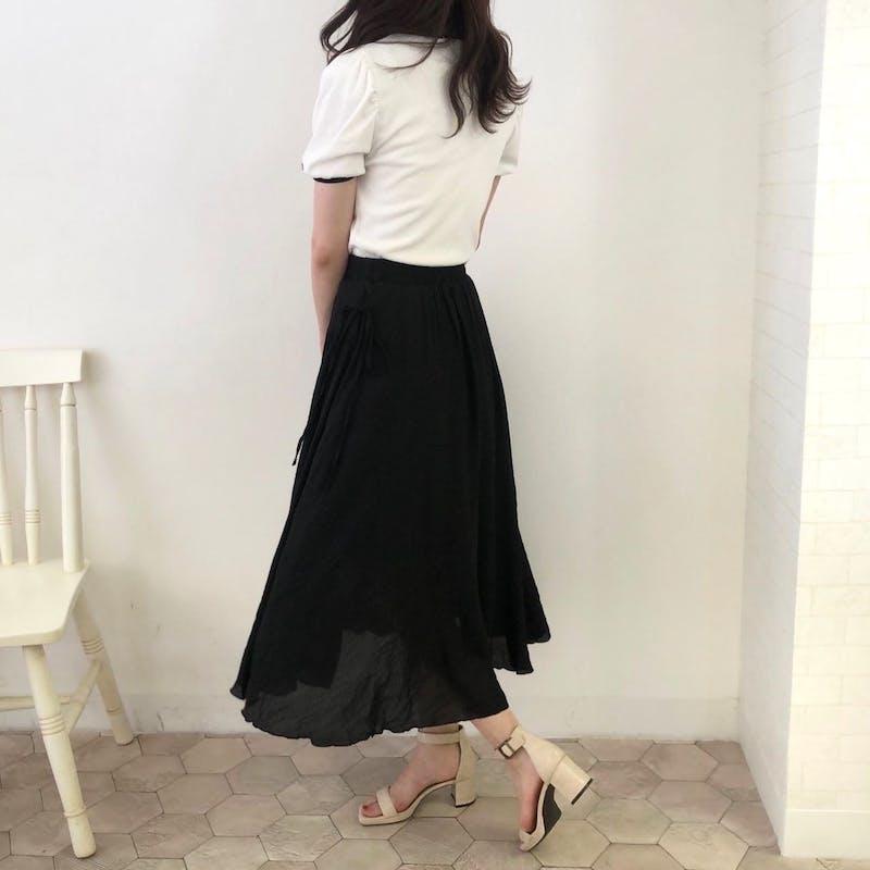 リネンライクリボンスカートの画像20枚目
