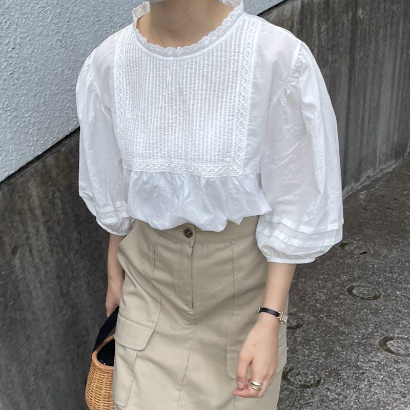 cotton lace blouseの画像1枚目