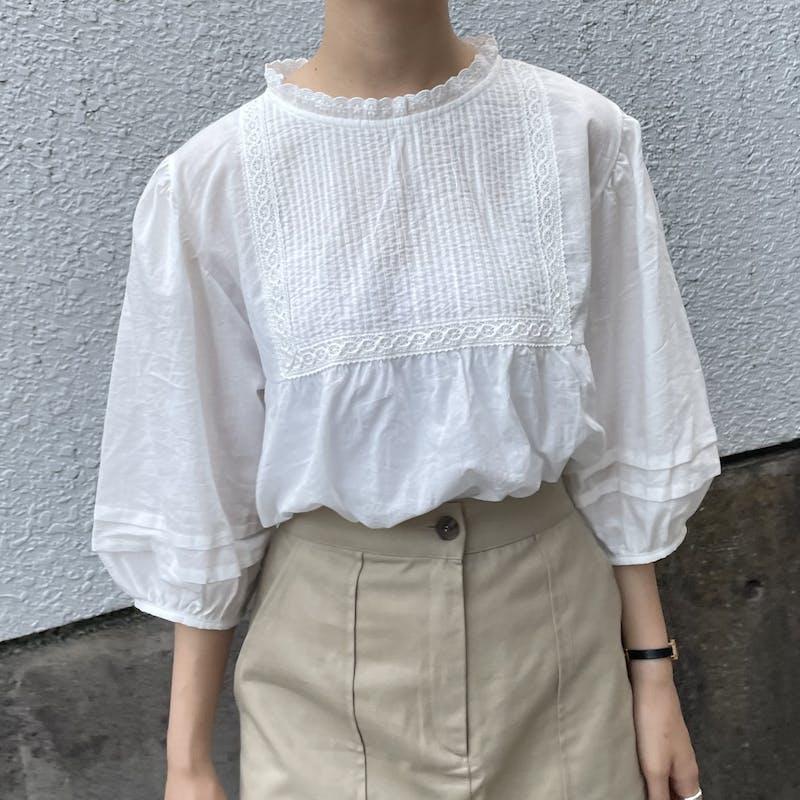 cotton lace blouseの画像2枚目
