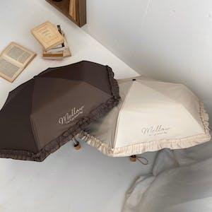 mellow's フリル折りたたみ傘(日傘/雨傘/晴雨兼用)