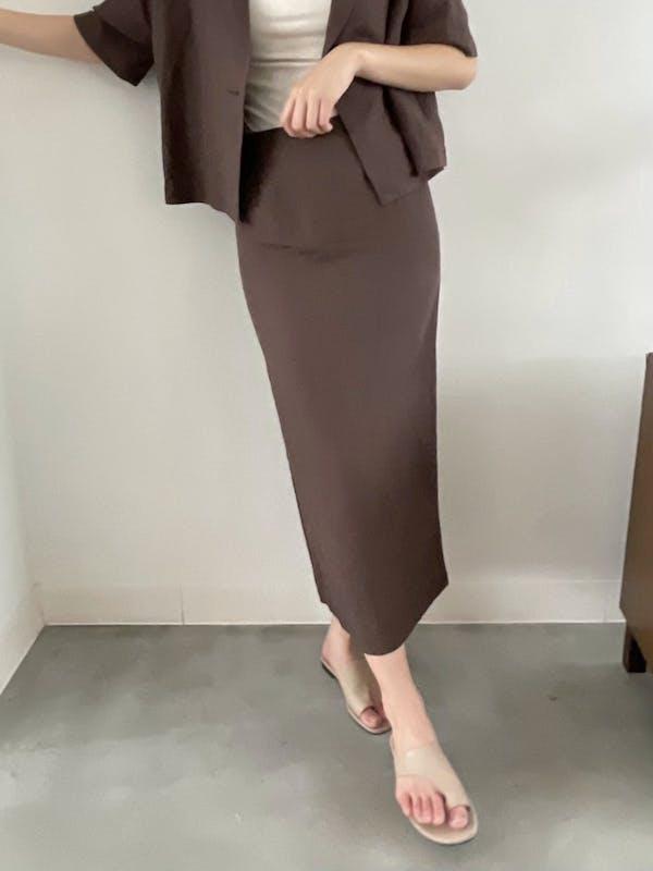 バックスリットロングスカートの画像2枚目