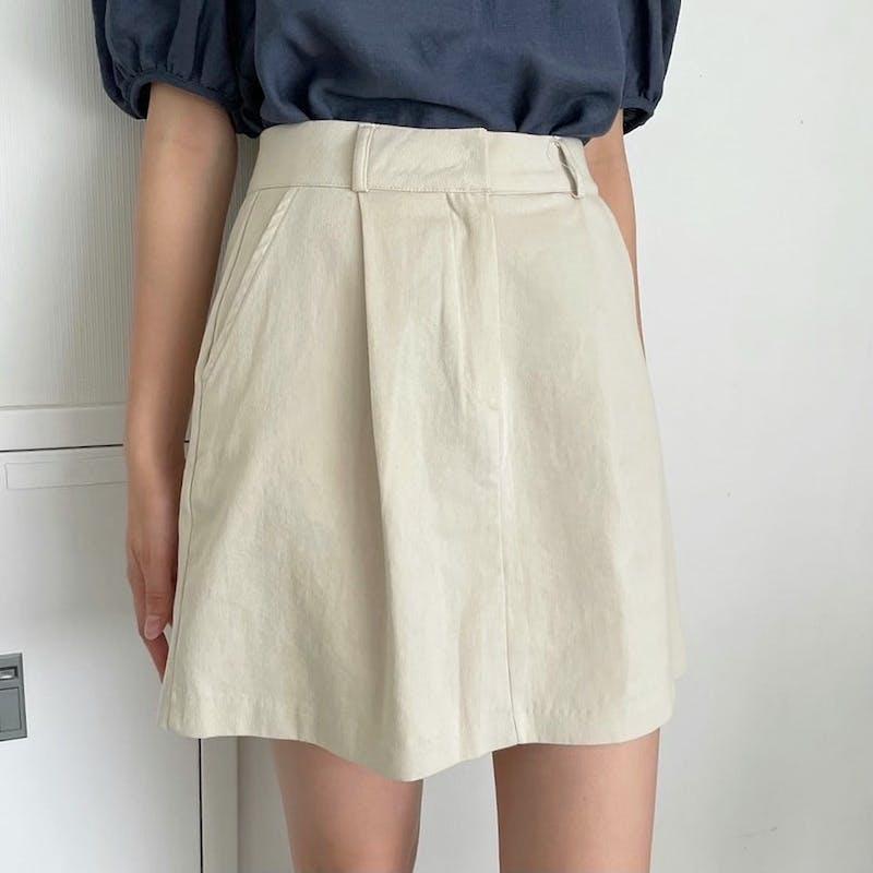 シンプル台形スカートの画像2枚目