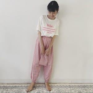 ginghamcheck pajamas pants (袋付き)