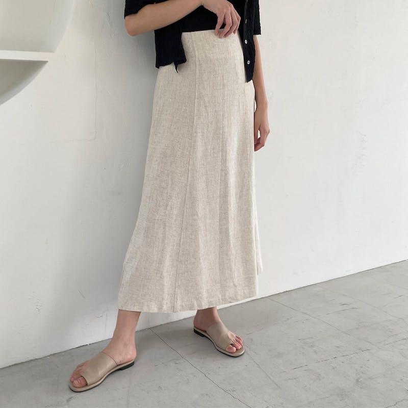 リネンライクIラインスカートの画像1枚目