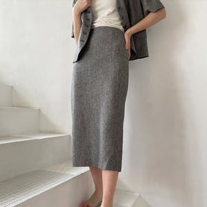サマーツイードバックスリットスカート
