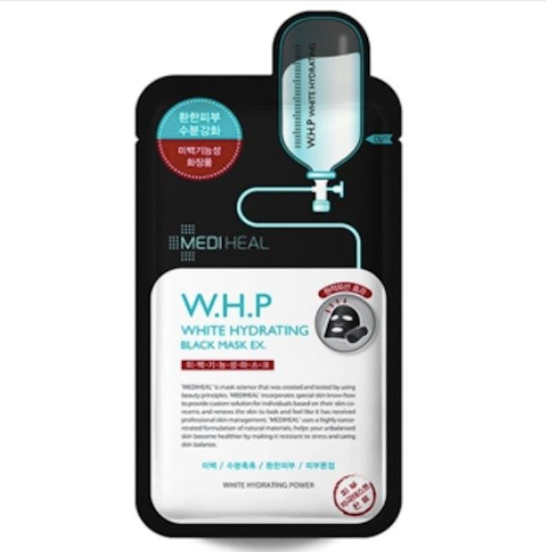 【メディヒール】W.H.P ホワイトハイドレーティング ブラック マスク EX(10枚入)の画像1枚目