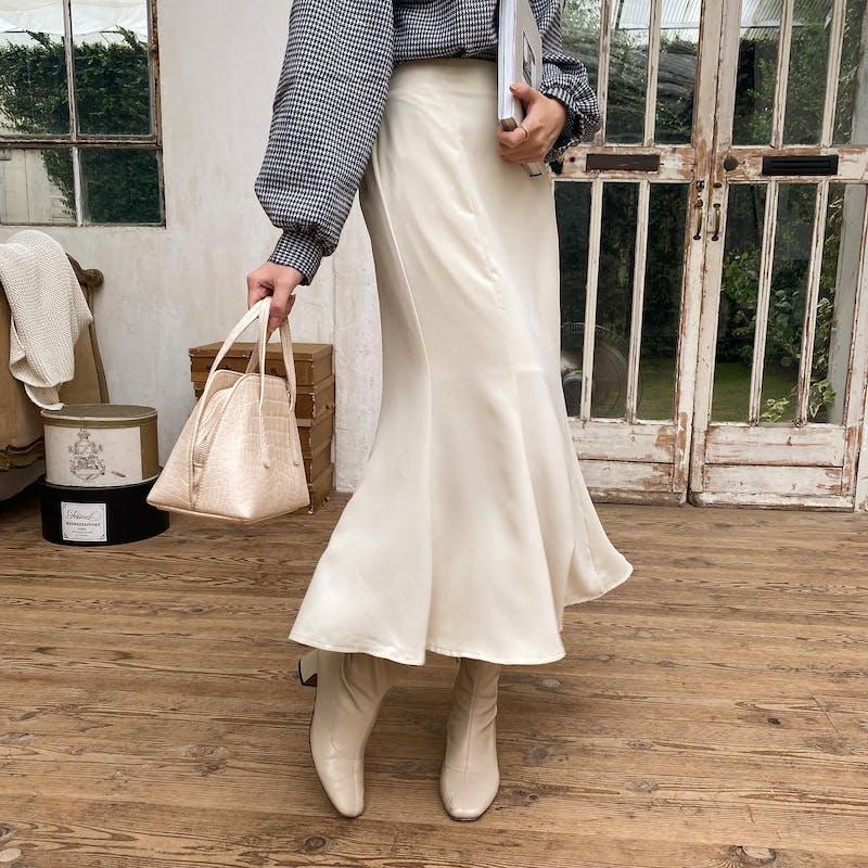 シンプルマーメイドスカートの画像1枚目