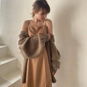 slit camisole dress