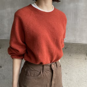 autumn-color wool knit