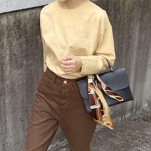 egg-color blouse