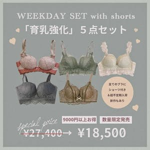 【超在庫少 9000円以上お得】育乳タイプ5点セット