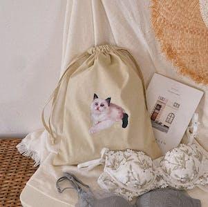 【なくなり次第発売終了】【ブラセット3点収納】UR cat kinchaku
