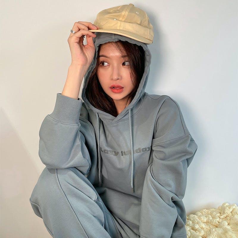 Oversize set-up hoodieの画像1枚目