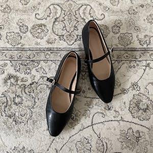 strap ballet shoes